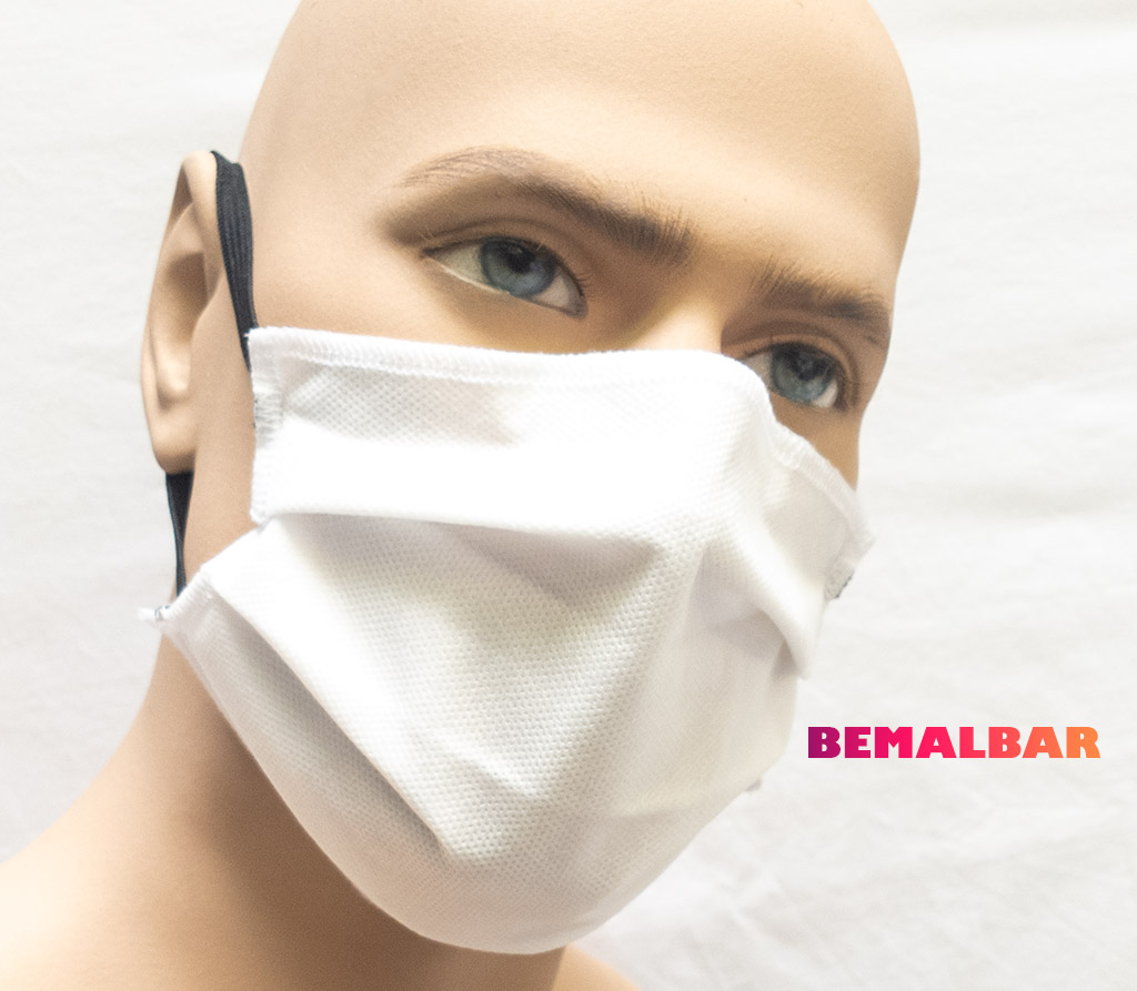 Spira Protekto Behelfsmaske mit POLYGIENE ViralOff® – wasserabweisend – Modell SP01/3 – 3er Pack