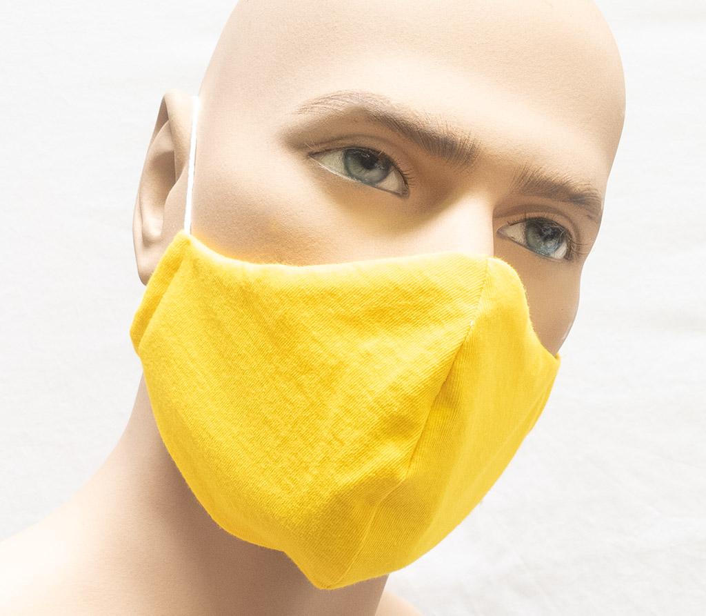 """Spira Protekto Behelfsmaske mit POLYGIENE ViralOff® –  Modell SP05 – """"Papagei Sommer"""""""